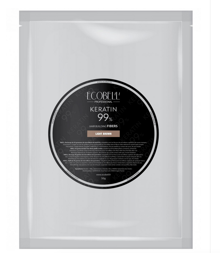Ecobel Keratin Hair building fibers Large Black 50g
