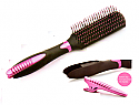 Brush style & grooming with section clip in handle
